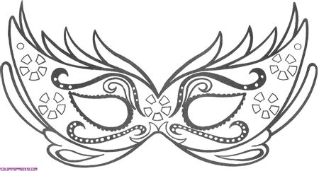 Coloring Mask by A Mask For Carnival