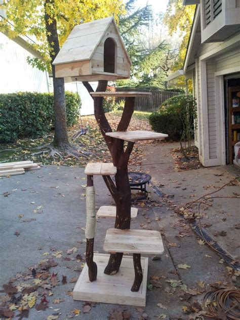 tree cat house cat tree diy homemade for cats diy cat tree bed house basket more pinterest