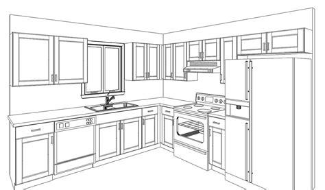 Kuche Zeichnung by Free 3d Design Kitchen Prefab Cabinets Rta Kitchen
