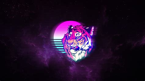 tiger retro neon art wallpapers hd wallpapers id