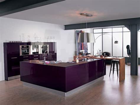 cuisine couleur prune couleur murs de cuisine cuisine prune