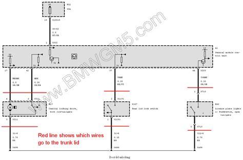 bmw e46 trunk wiring