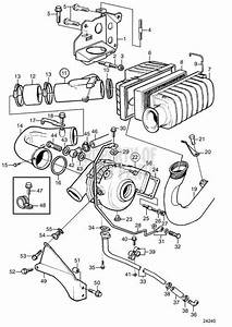 Volvo Penta Exploded View    Schematic Turbocharger And Air