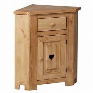 Meuble D Angle Chambre : meuble bas d 39 angle avec coeur 1 porte 1 tiroir achat vente commode de chambre meuble bas d ~ Teatrodelosmanantiales.com Idées de Décoration