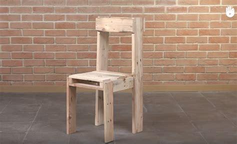 fabriquer une chaise tutoriel fabrication d 39 une chaise avec des palettes