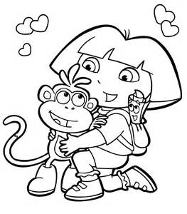 HD wallpapers coloring pages dora the explorer boots