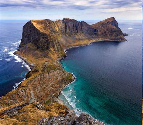 Peninsulas, Island, Norway, Sea, Beach, Cliff, Summer