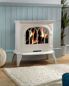 Electric Fireplace Design Ideas Pictures Eko Fires Eko1050cl White Electric Stove With Arch Lattice