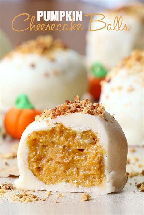 pumpkin cheesecake balls cakescottage