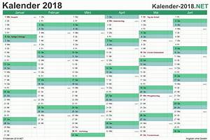 Jahreskalender 2018 2019 : jahreskalender 2018 kostenlose kalender ausdrucken ~ Jslefanu.com Haus und Dekorationen