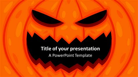 halloween powerpoint template presentationgocom
