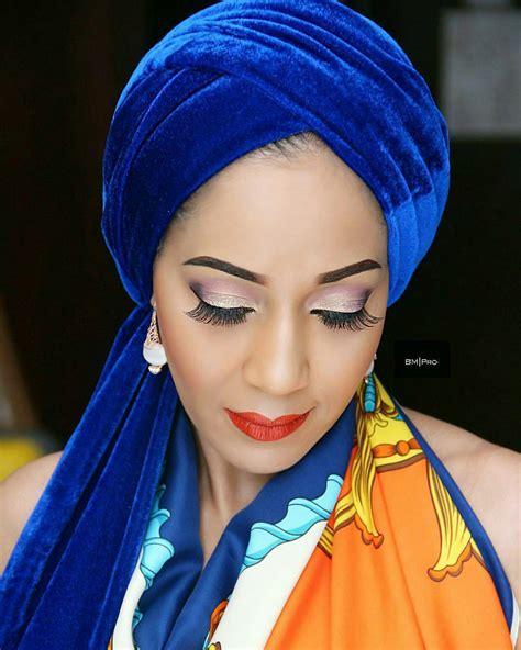 trending  velvet turban headwrap fashion nigeria