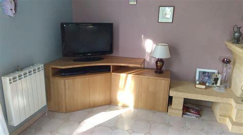 meuble cuisine en coin conception et fabrication d un meuble tv d angle sur