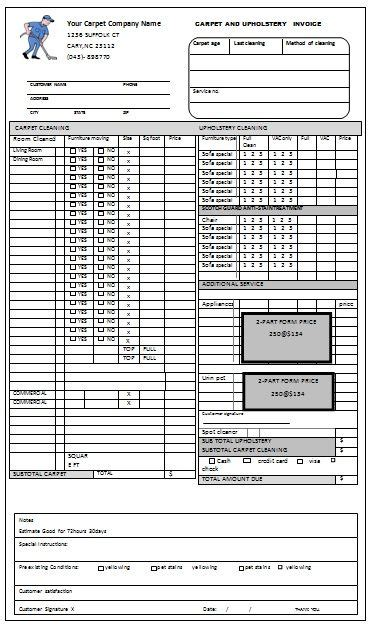 cleaning service invoice templates invoice template