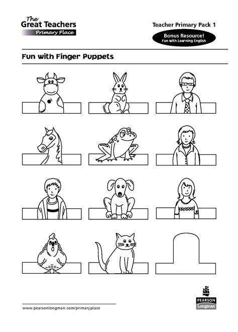 animal finger puppet templates google search kagit