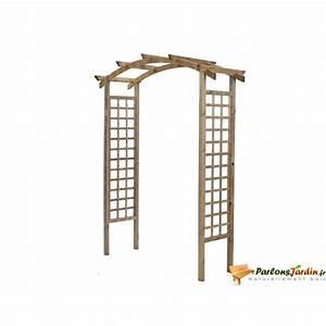Pergola Bois En Kit Pas Cher : pergola double en arc en bois violette achat vente ~ Edinachiropracticcenter.com Idées de Décoration