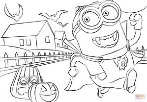 HD wallpapers halloween minion coloring pages hdibblove.ga