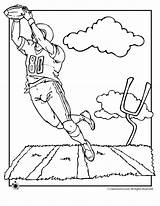Coloring Football Pages Popular sketch template
