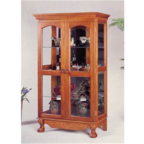 curio cabinets solid oak curio cabinet with doors