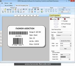 barcode software for retail business supports linear and With inventory label software