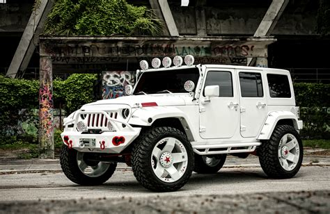 cool white jeep white customized jeep wranglers image 216