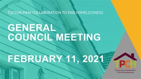 TPCH General Council Meets February 11, 2021   Tucson Pima ...