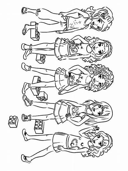 Lego Coloring Friends Pages Printable Mycoloring