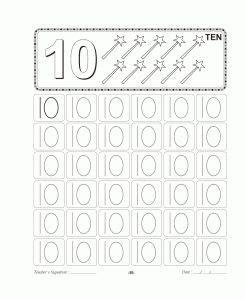 number trace worksheet  kids  images worksheets
