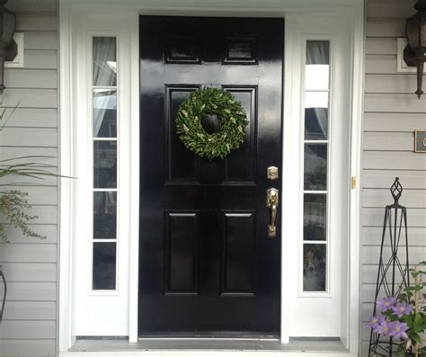 diy lessons learned painting my front door black xmas