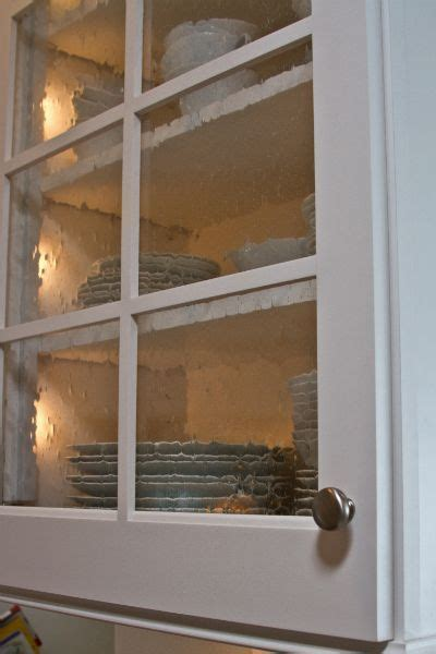 seeded glass cabinet doors   Home: Kitchen in 2019