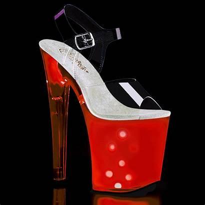 Discolite Heels Stripper Platform Led Pleaser