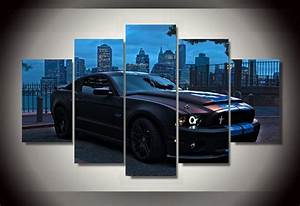 2016 Unfamed Printed For Ford Mustang Group Painting Children's Room Decor Print Picture Canvas ...