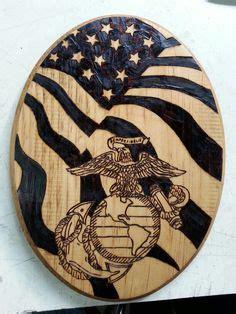 marine corps woodburning  wolf animator  deviantart