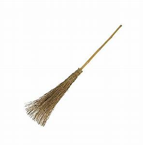 Bamboo Wood Besom Broom Sweep Garden Leaves Traditional ...