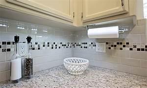 A Country Kitchen In White Blue Dreammaker Bath Subway
