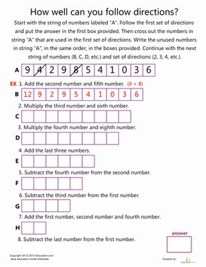 sudoku worksheet education
