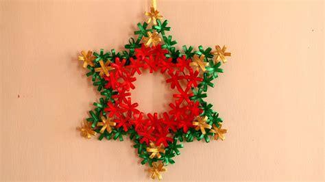 diy christmas star christmas wreath diy christmas