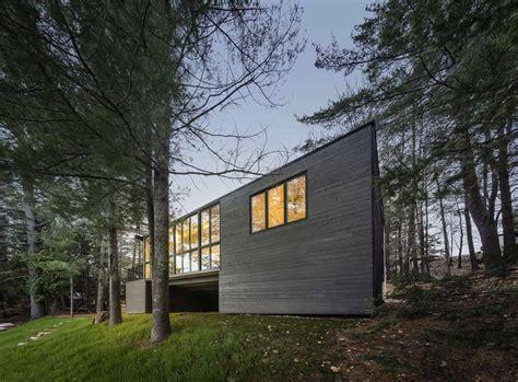 prefab lake cottage  cross laminated timber construction