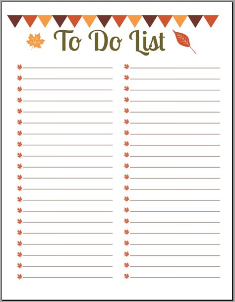 todo checklist 10 printable to do list templates excel templates