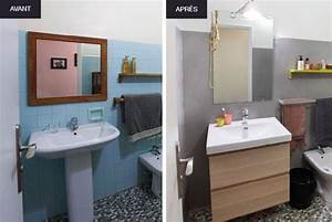 Carrelage Avant Ou Apres Receveur : avant apr s 3 r novations de salle de bain bienchezmoi ~ Nature-et-papiers.com Idées de Décoration