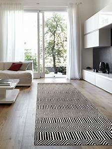 Läufer 80 X 300 : benuta teppich l ufer sloan wolle baumwolle schwarz wei 80 x 300 0 x 2 cm m bel24 ~ Markanthonyermac.com Haus und Dekorationen