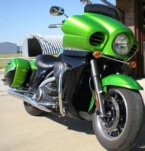 2012 Kawasaki Vaquero in Candy Lime Green Black Nex Tech