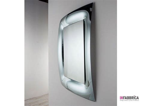 Curved Bathroom Mirror by Mirror In Curved Glass Brezza