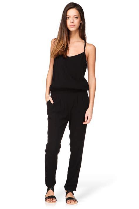 retro jumpsuit vintage jumpsuit holi138e15 in black lyst