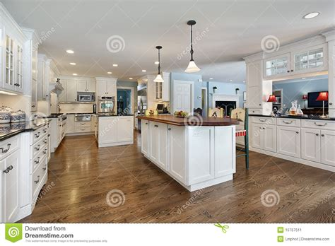 dining table seats 8 10 kitchen with wood top island stock image image 15757511