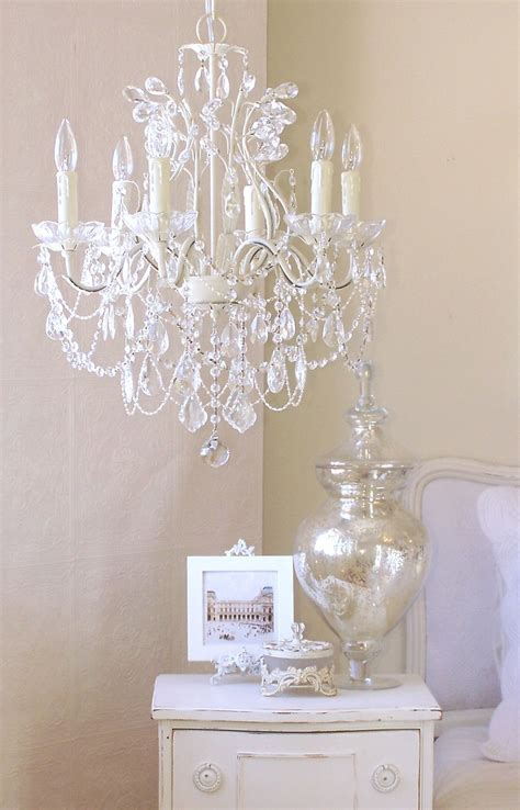 White Bedroom Chandelier by 5 Light Antique White Chandelier With Pink Shades In
