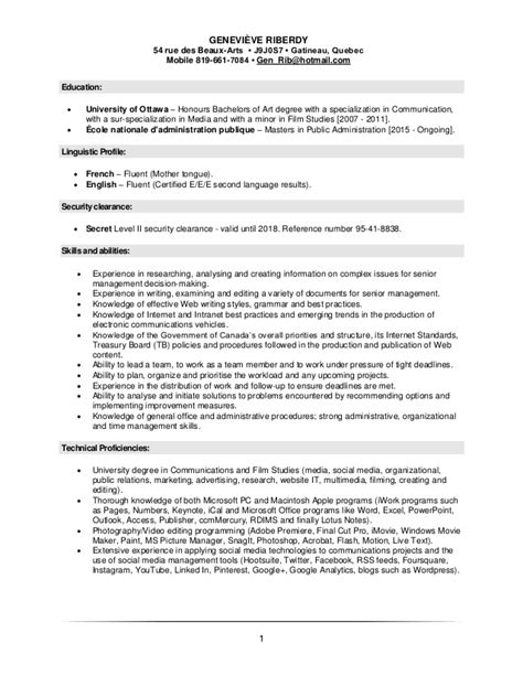 100 proficiencies on resume what should i include on a