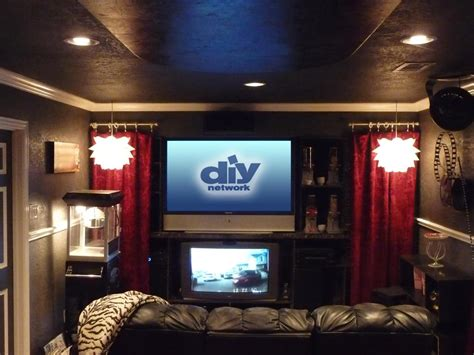 Tips For Designing The Ultimate Media Room Solid Green Curtains Carnation Shower Curtain Artist Best Price Reer Light Rustic Cabin Window Treatments Contemporary And Drapes Ready Made With Blackout Lining