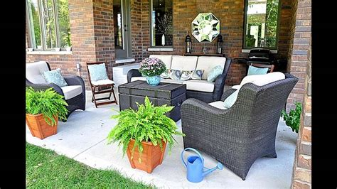 easy patio decorating ideas simple back porch decorating ideas youtube