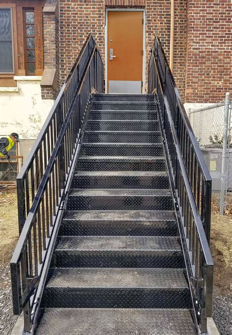 prefabricated commercial stairs 12ft erectastep
